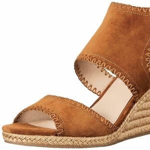 Via Spiga Izett Beach Suede Espadrille Wedge